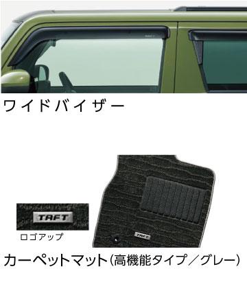 ●ワイドバイザー/●カーペットマット(高機能タイプ/グレー)